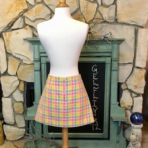 Lilly Pulitzer Skirts - Lilly Pulitzer Pastel Squares Skirt